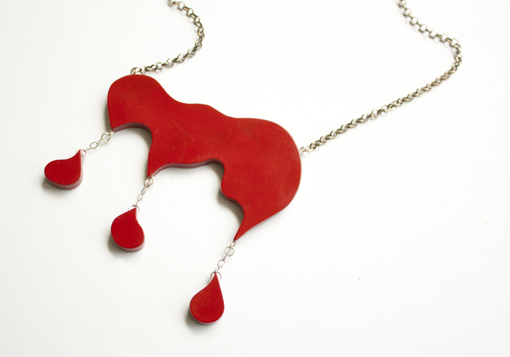Dripping Blood Necklace $195