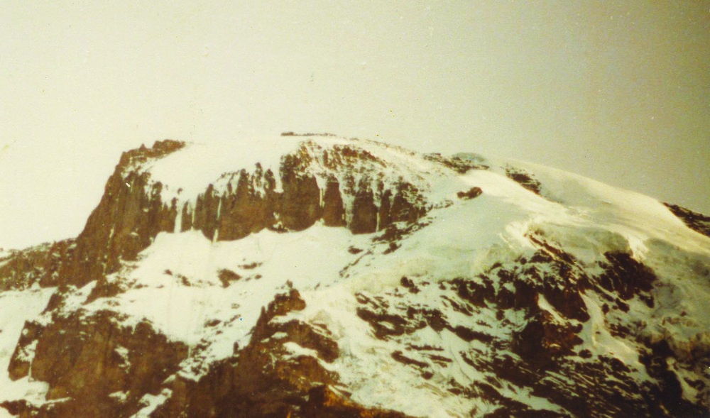 Kibo Peak - The view from Barranco