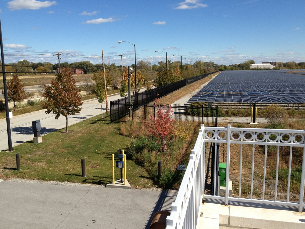 Exelon City Solar - Looking East from atop O&M Building