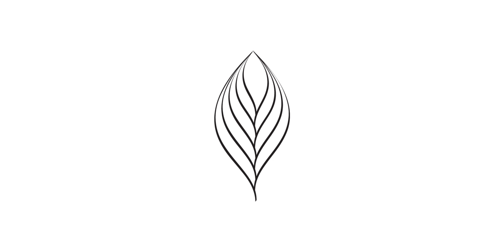 Communications and the cycles of life are represented by the repeating lines of the leaf shape.