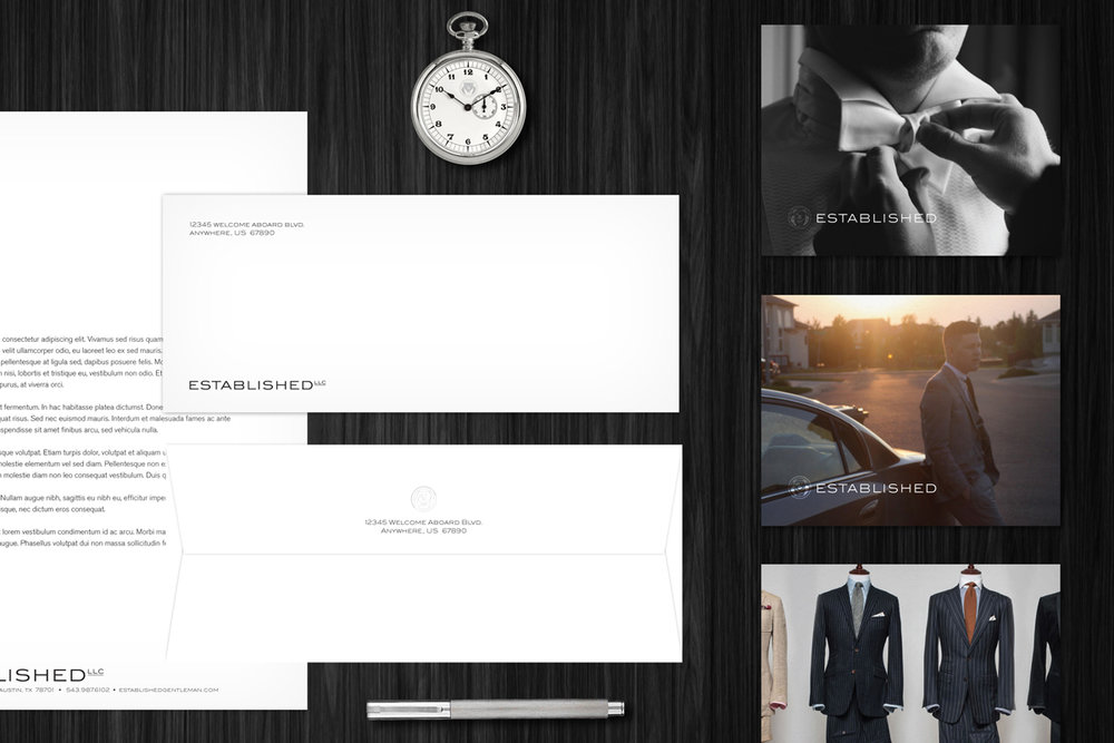 Custom menswear & image consulting - Brand Identity • Fashion