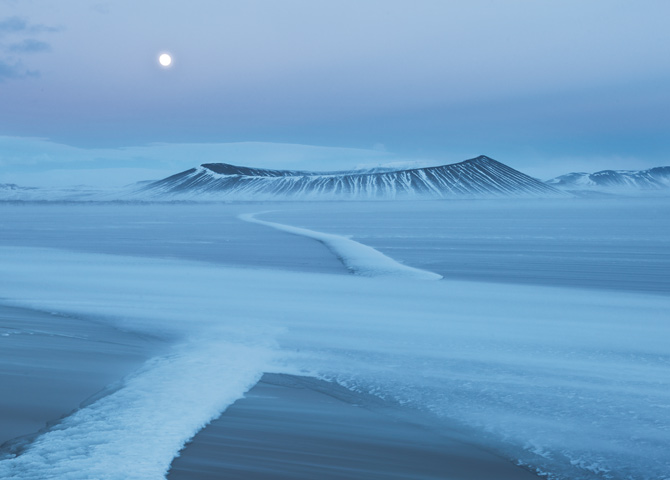Hverfjall Volcano on Myvatn Lake, Photograph by Orsolya and Erlend Haarberg