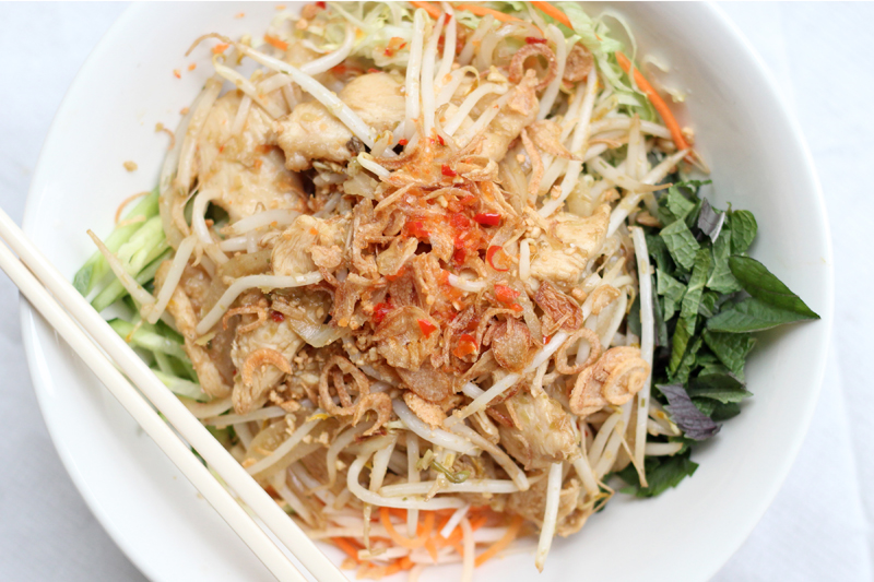 grilled & shredded pork with rice vermicelli