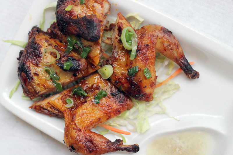 chargrilled quail