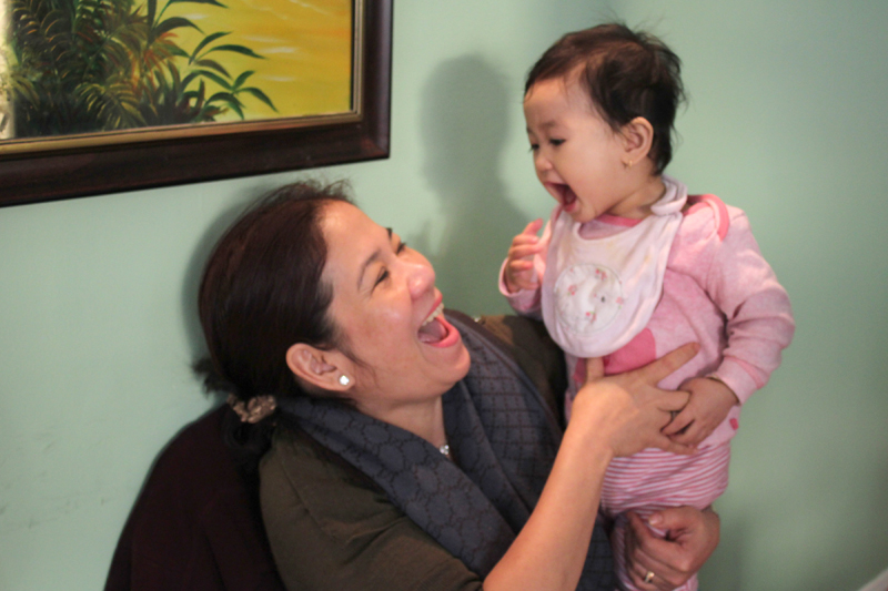 Mrs Anh Phuoc Thi Pham & her great niece Levy, the newest member of our Sông Quê Café family!
