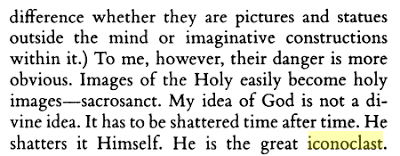 """My idea of God... has to be shattered time after time."" CS Lewis, A Grief Observed"
