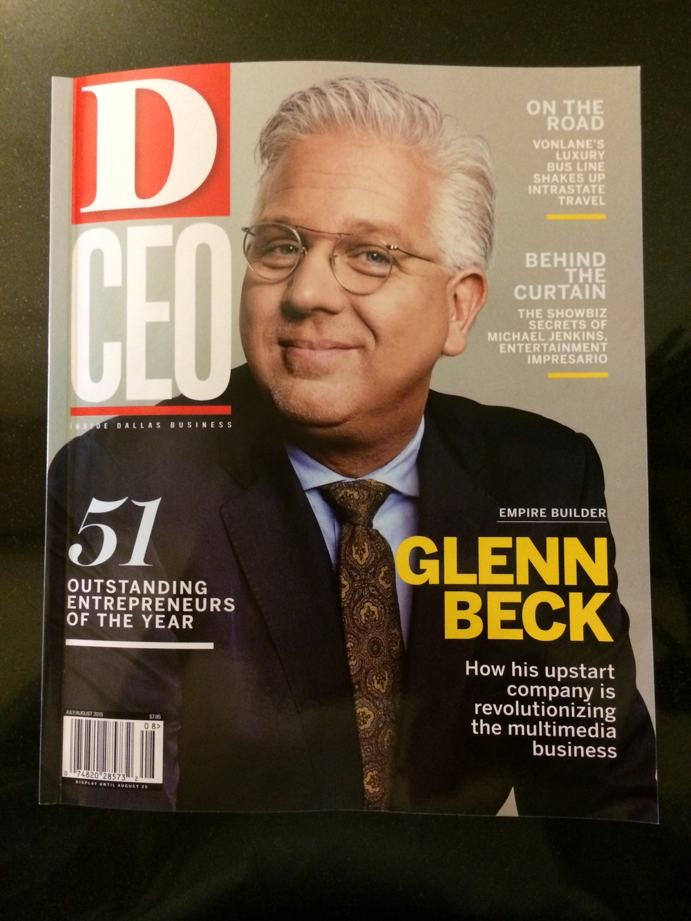 Glenn Beck was also honored at the Gala