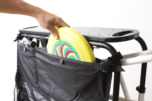 Serving as protective wheel-skirts for passengers, X1 bags offer tons of carrying capacity while keeping cargo easy to access when kids are aboard.