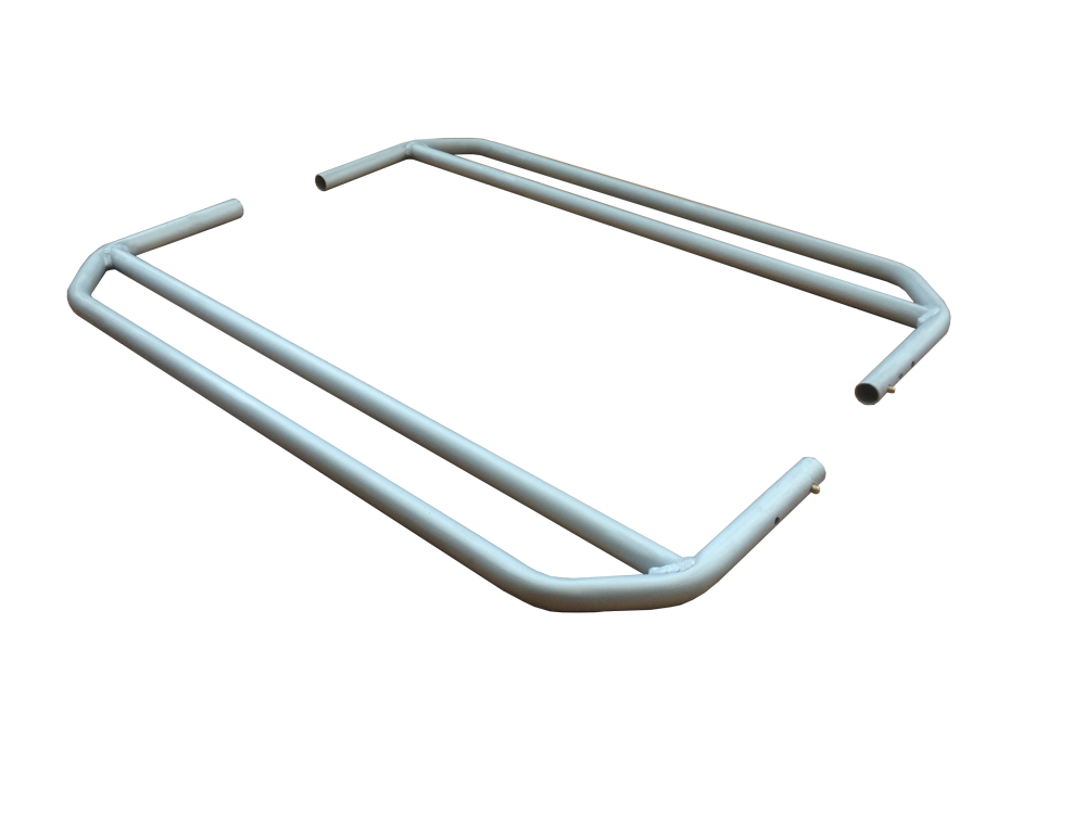 U-Tubes are heavy-duty foot or cargo supports made out of 6000 series aluminum. The twin tubes support feet or cargo but shed debris & water.