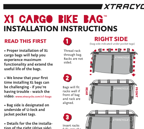DOWNLOAD X1 PRODUCT INSTRUCTIONS ( PDF )