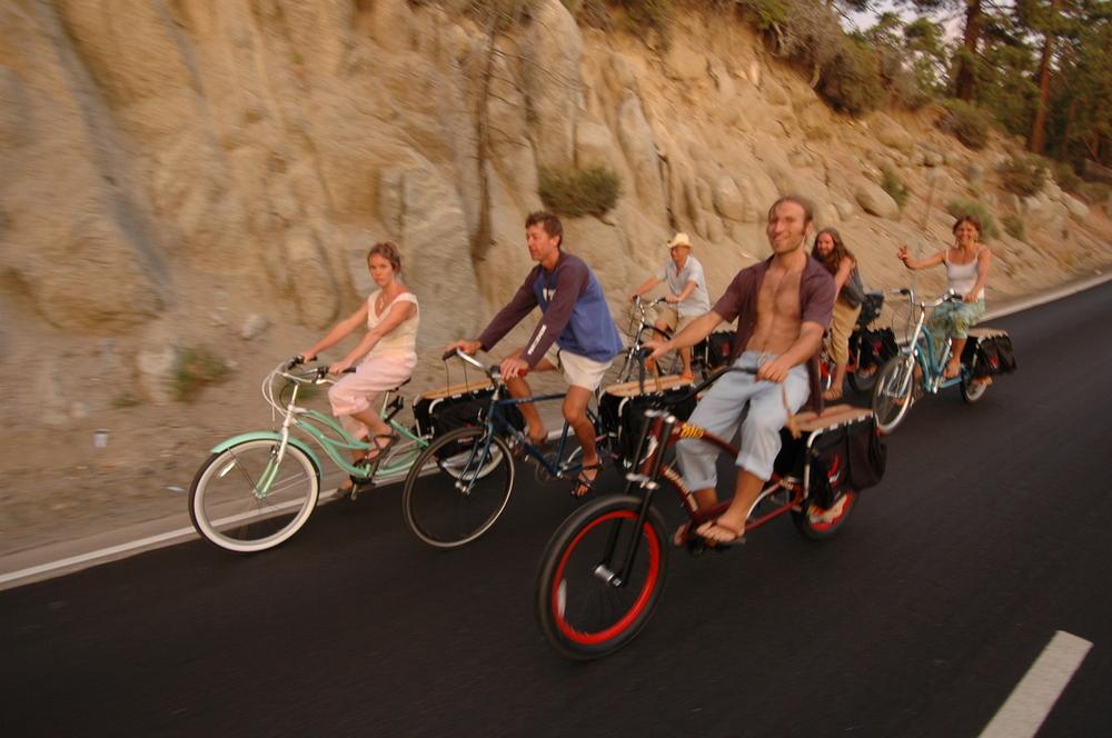 Xtracycle crew in North San Juan, CA, 2003