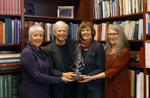 Pictured left to right: Margaret Carley, JD, Patrick Dunn, MD, Susan Tolle, MD, Terri Schmidt, MD