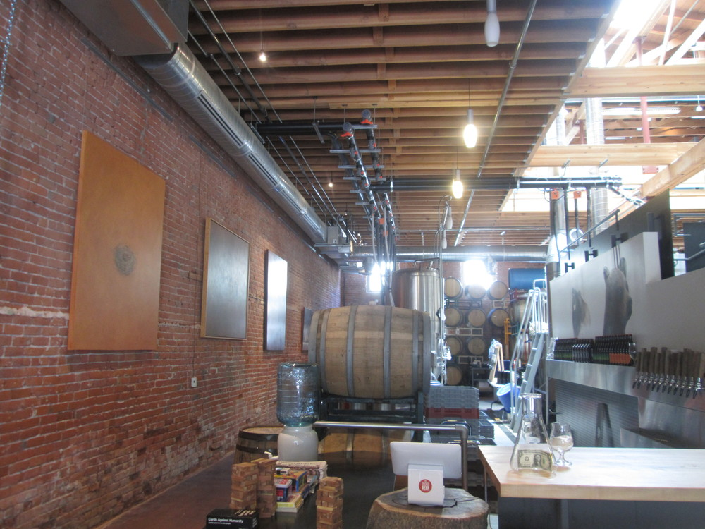 A snapshot of the Good Beer Company's brewery, which is located below RSG's offices.