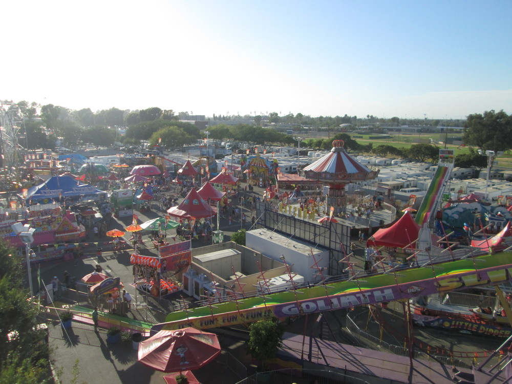 View of the festivities from the Sky Ride