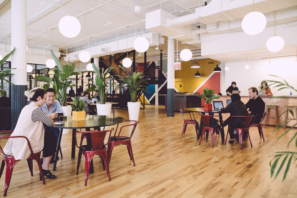 Photo credit: WeWork. (WeWork provides shared workspace, community, and services for entrepreneurs, freelancers, startups, and small businesses.)