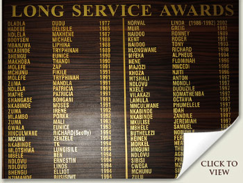 Summerhill Stud Long Service Awards Board