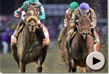 blame beats zenyatta in breeders cup classic at churchill downs racecourse video