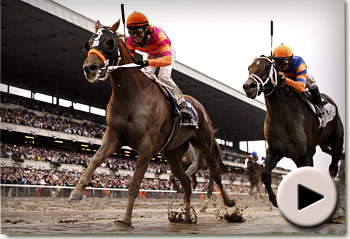 Ruler On Ice wins Belmont Stakes
