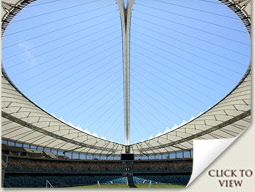 interior of the moses mabhida stadium durban south africa
