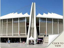 exterior of the moses mabhida stadium durban south africa