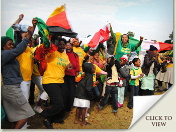 2010 world cup football fever in the kzn midlands south africa