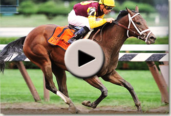 r heat lightning winning the spinaway stakes at saratoga racetrack