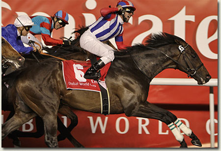 Victoire Pisa wins the Dubai World Cup