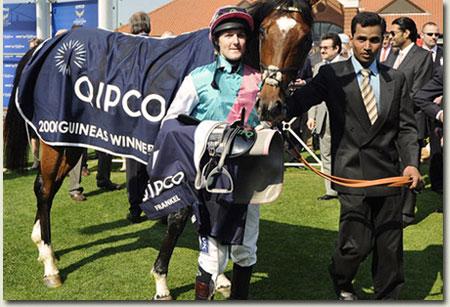 Frankel winner of the QIPCO 2000 Guineas