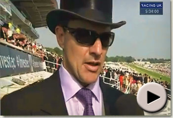Aidan O'Brien speaks about Camelot's win in the Investec Derby