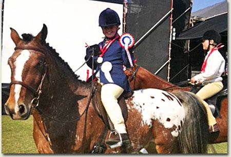 Hannah Goss and her horse Graffiti