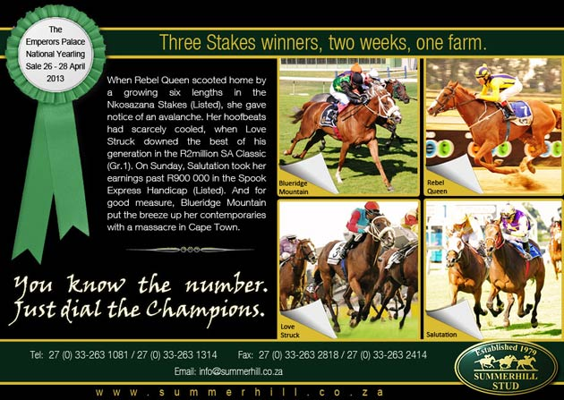 Three Stakes Winners - Two Weeks - One Farm