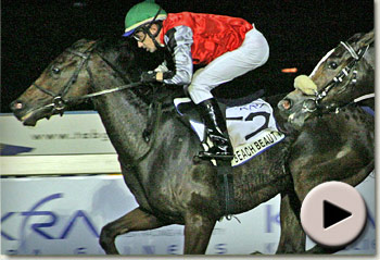Beach Beauty wins the KRA Fillies Guineas (Korean Racing Authority)