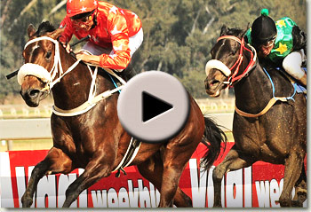mannequin winning the banyana handicap at the vaal racecourse
