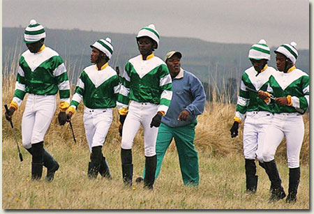 jockeys at the summerhill ready to run gallops