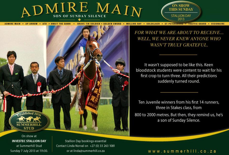 Admire Main - Stallion Day 2013