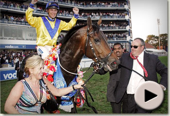 Bold Silvano winning the Vodacom Durban July in South Africa