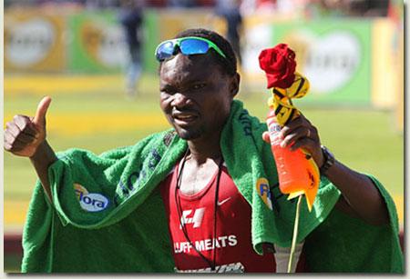 Stephen Muzhingi winner of Comrades Marathon 2011