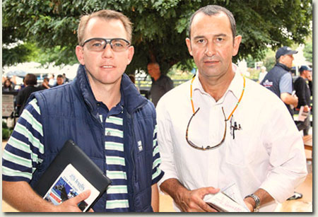 Derek Brugman (Mayfair Speculators Racing Manager) with Dean Kannemeyer