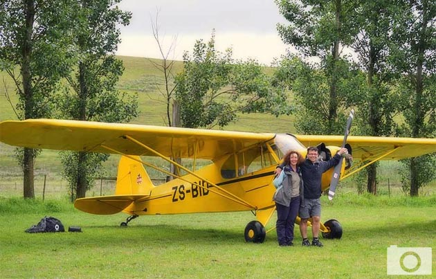 Jackie Solomon and Colin Wille - 1946 Piper Cub