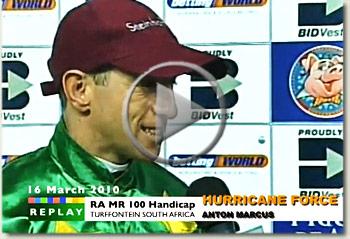 hurricane force racing association mr 100 handicap video