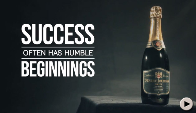 Success often has humble beginnings - Pierre Jourdan