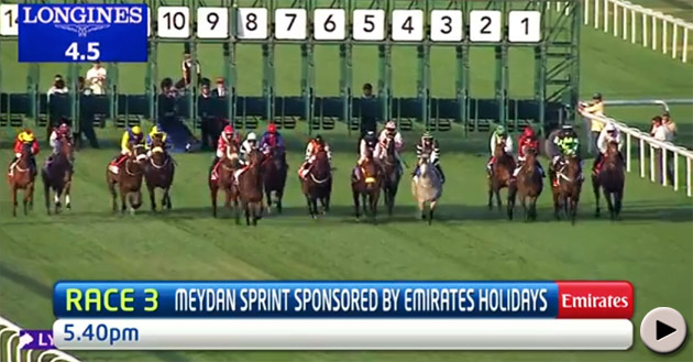 Shea Shea wins the Meydan Sprint