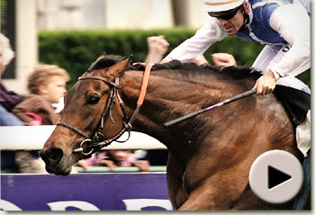Goldikova winning the Prix Rothschild