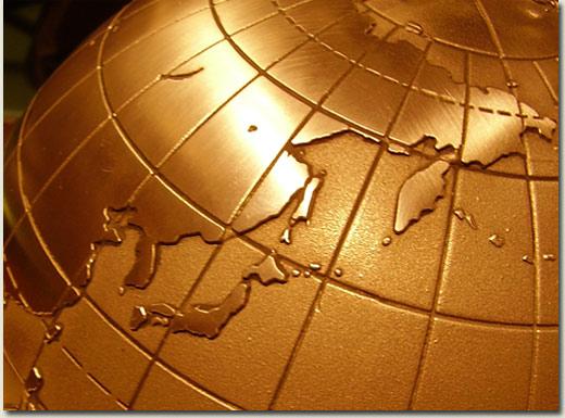 japan globe