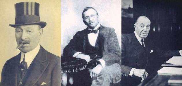 Isaac 'Jack' Barnato Joel, Barnett (Barney Barnato) Isaacs and Harry Joel 'Jim' Joel / Chilwickbury Trust Archive (p)