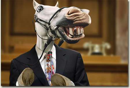 Smiling Horse in Suit