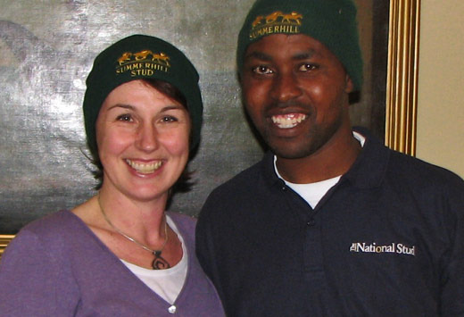 Sarah Frost and Thabani Nzimande