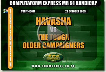 mpumelelo and havasha turffontein racecourse mr 91 handicap 22 october 2009 video