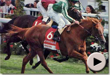 Lammtarra wins the 1995 Epsom Derby