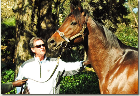 Trainer Herman Brown with Stallion Bankable